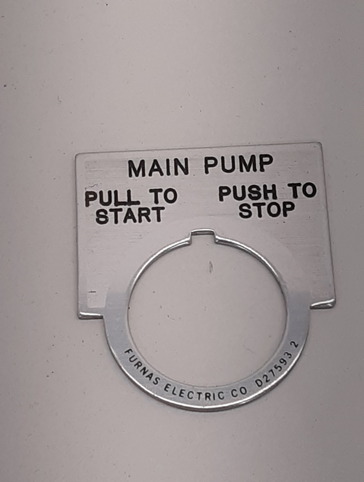 Furnas Electric Co. Main Pump D27593-2 Pull To Start / Push To Stop 30mm