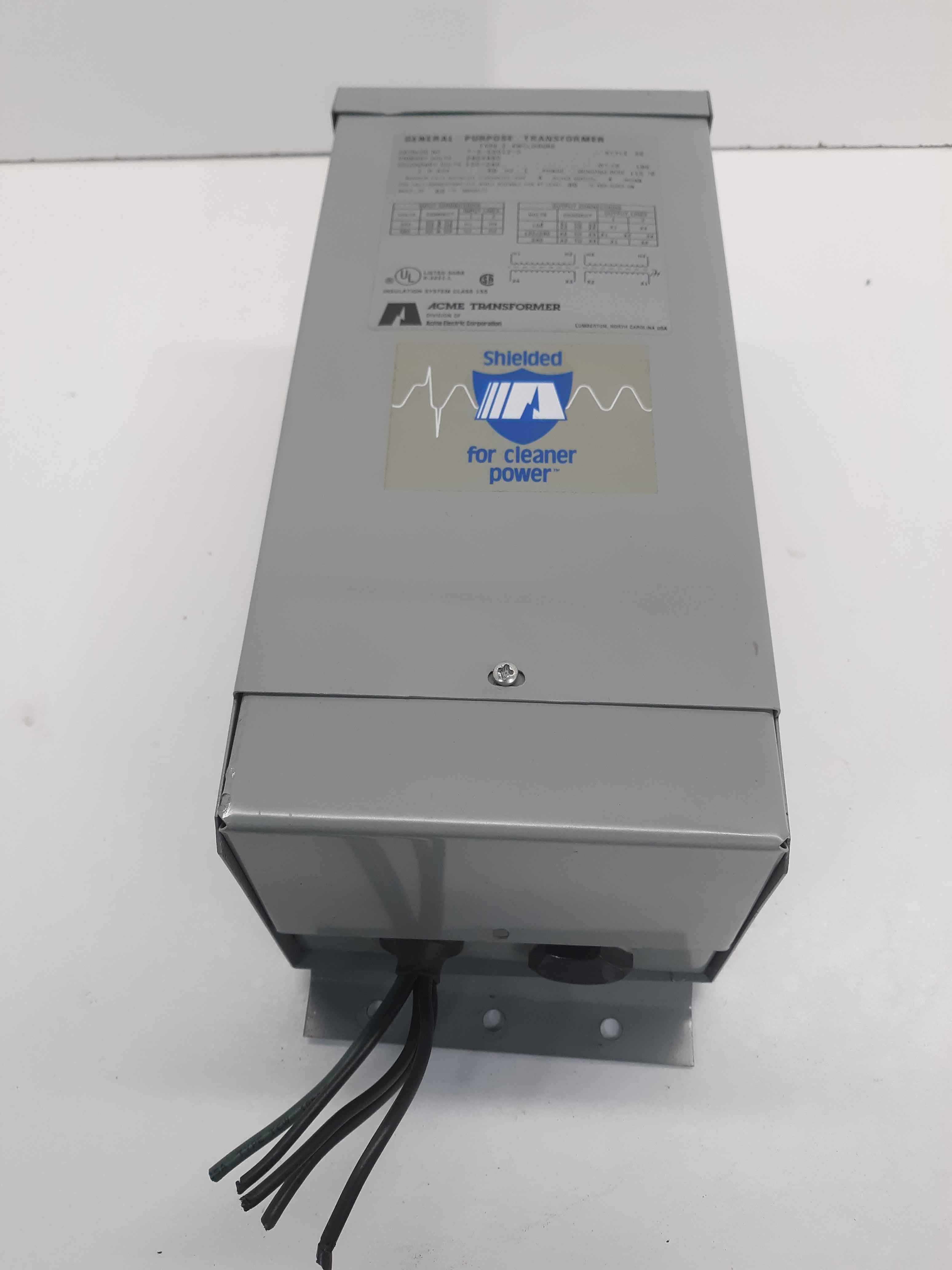 Acme General Purpose Transformer Type 2 Enclosure Style SE Cat. T-2-53012-S