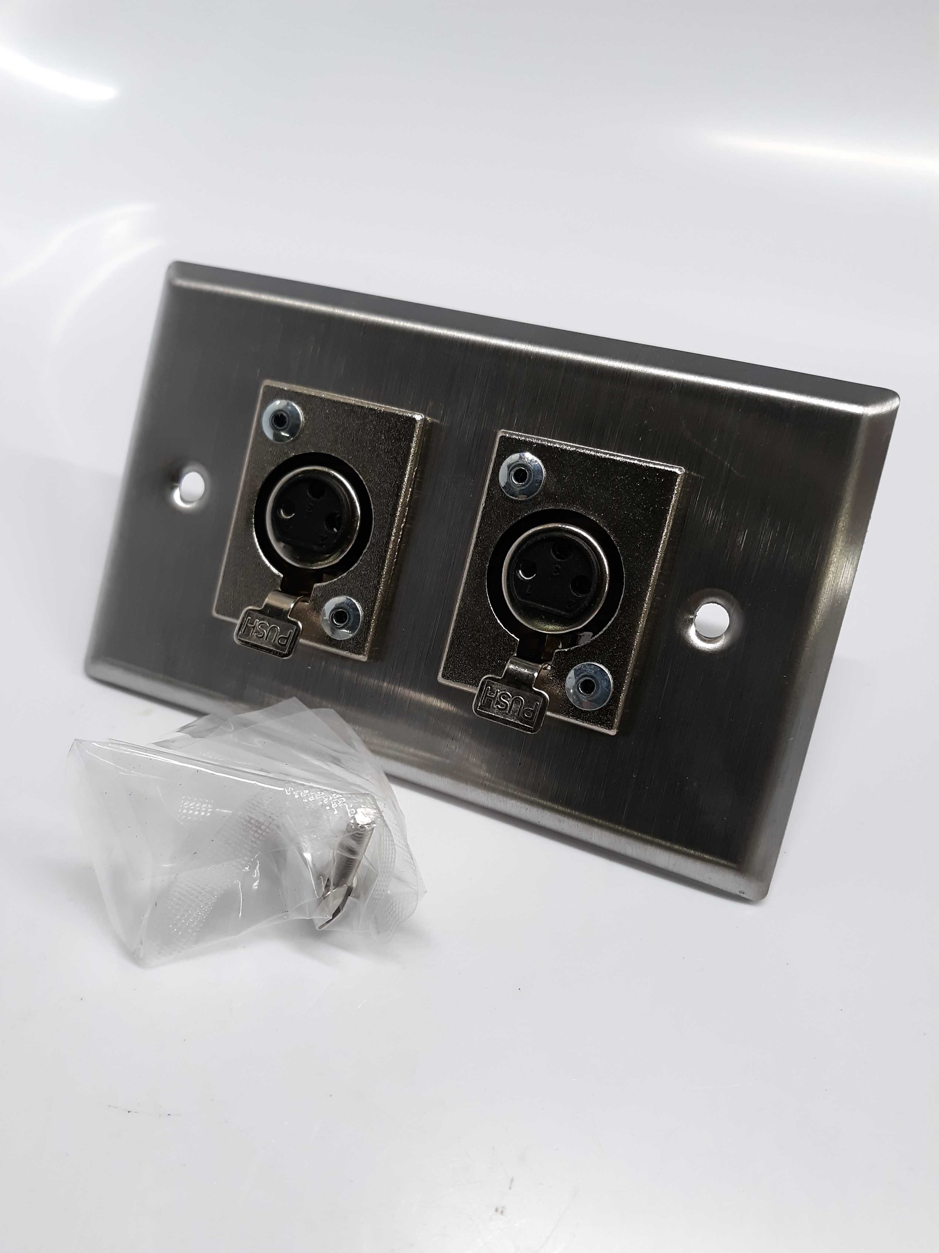 ProCo Plateworks SP-2H3FP Stainless Steel XLR Wall Plate
