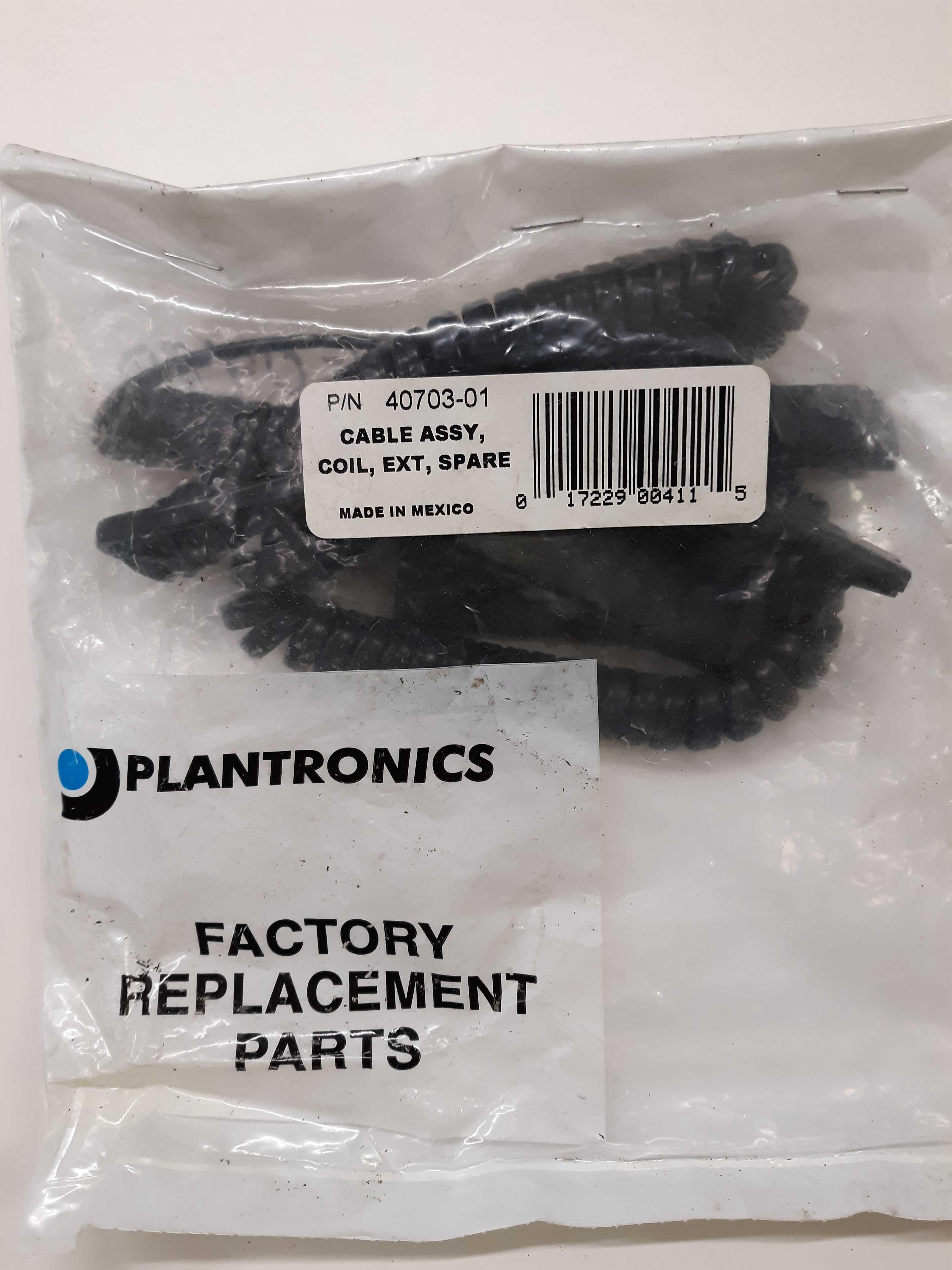 Plantronics 40703-01 Telephone Cable Assembly