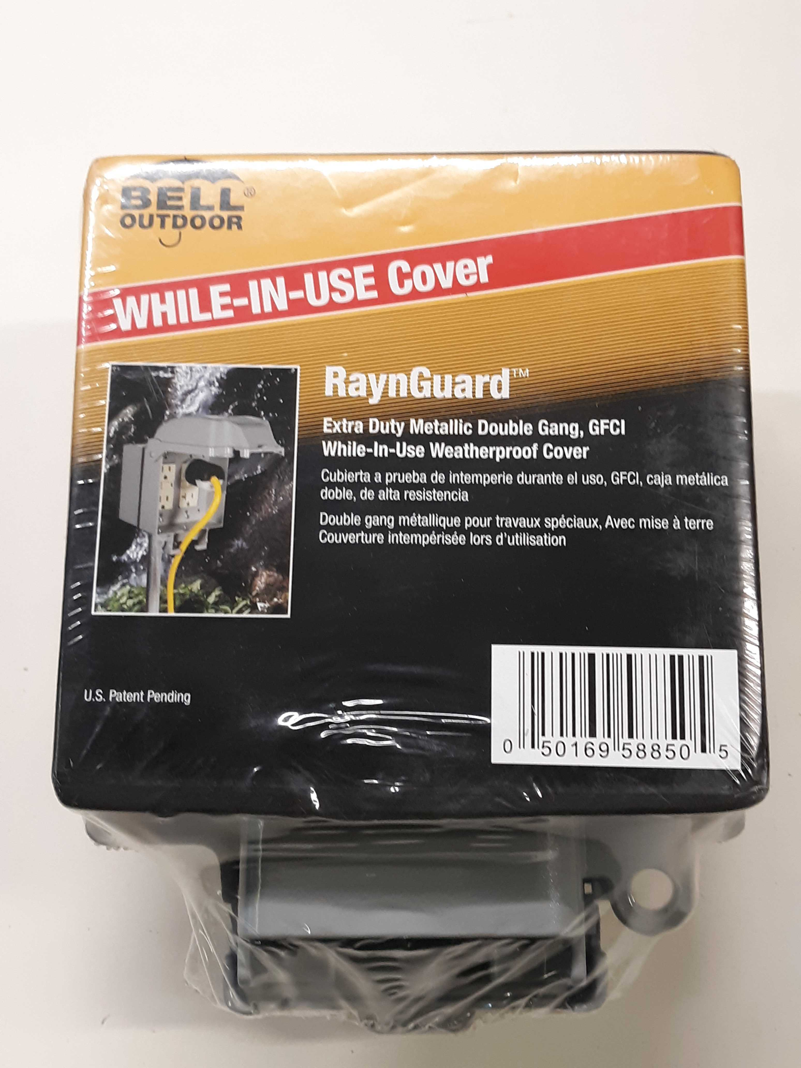 Hubbell-Bell Raynguard Cover 5885-0 Double Gang GFCI Heavy Duty Metallic