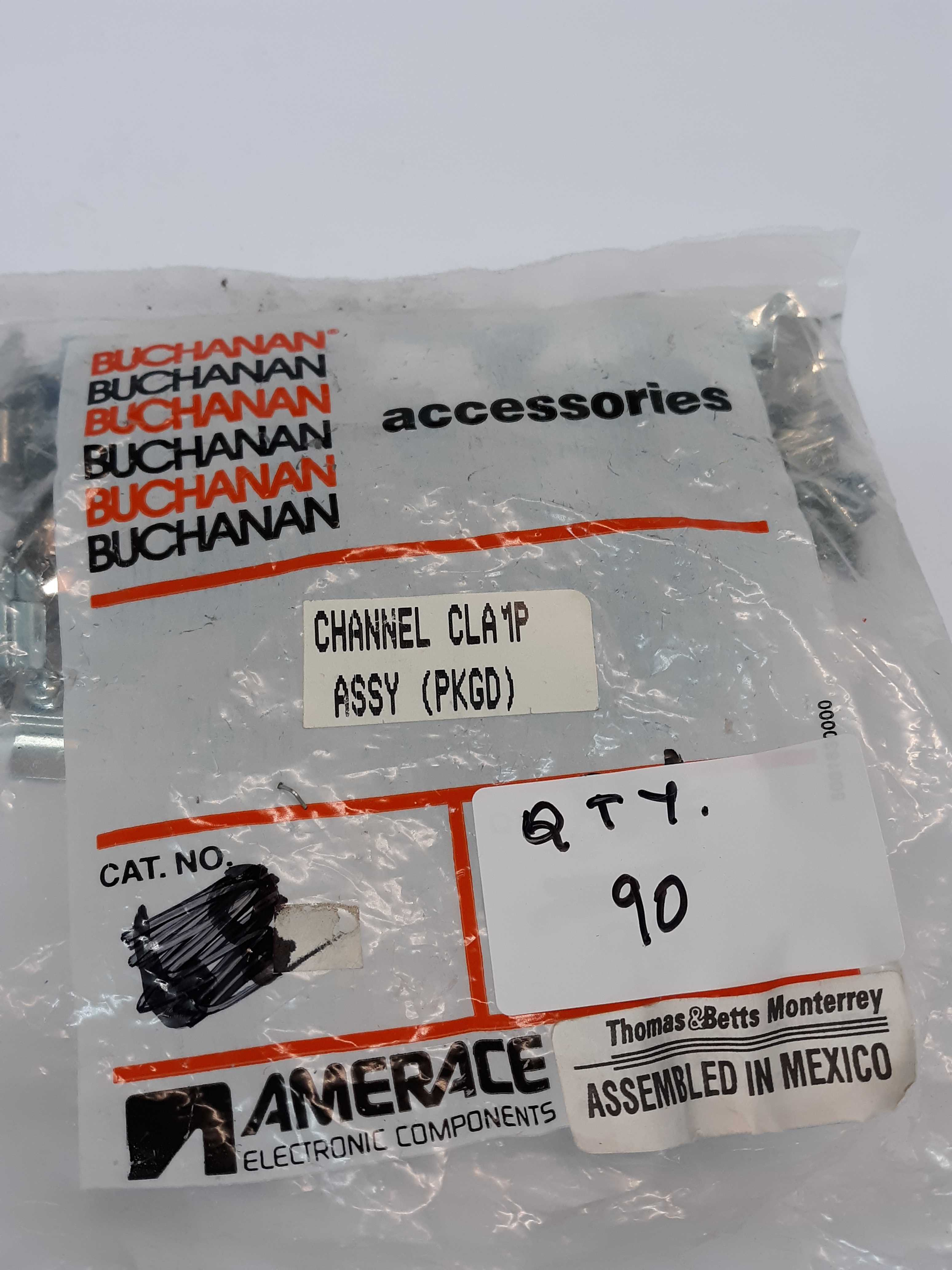 Buchanan 68 Channel Clamp Assembly Lot of 90