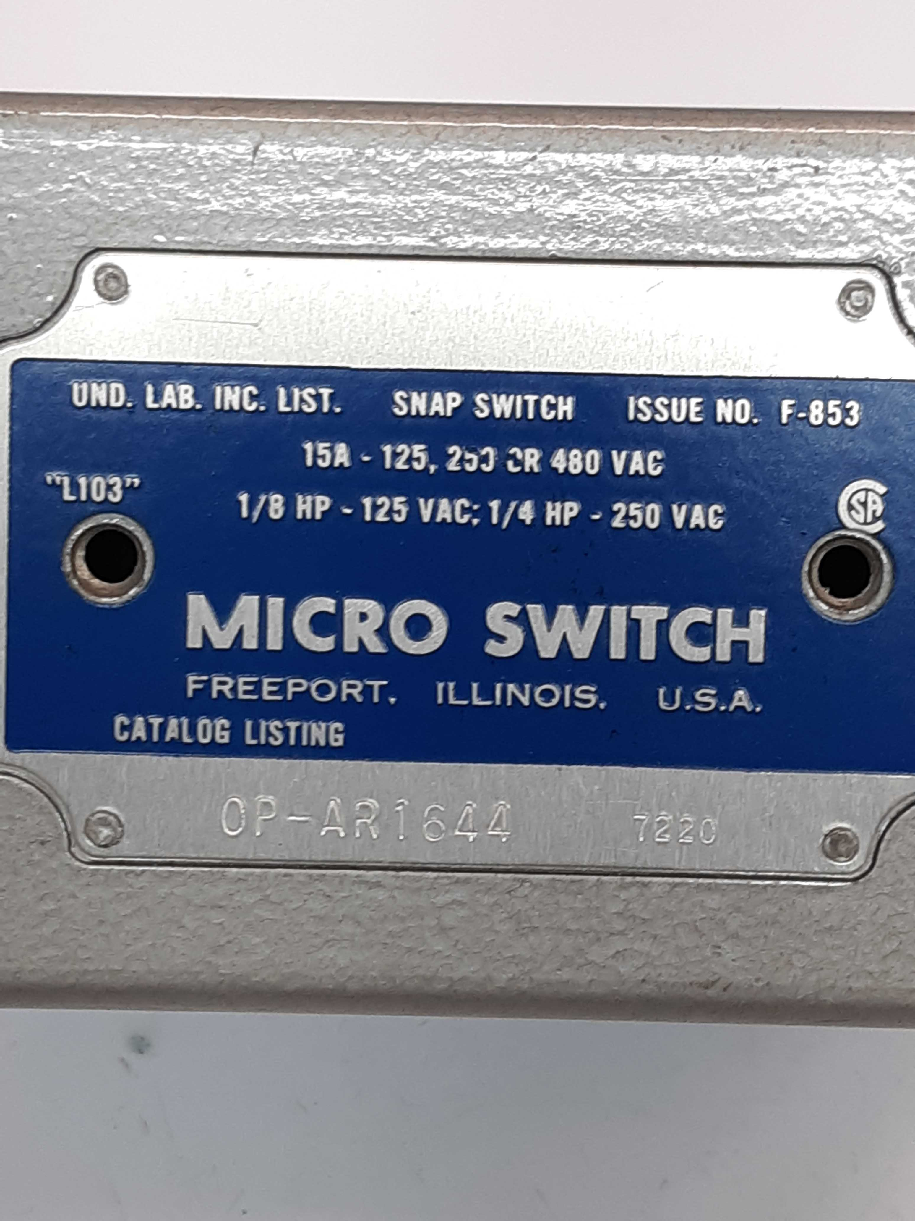 Micro Switch OP-AR1644 Snap Switch