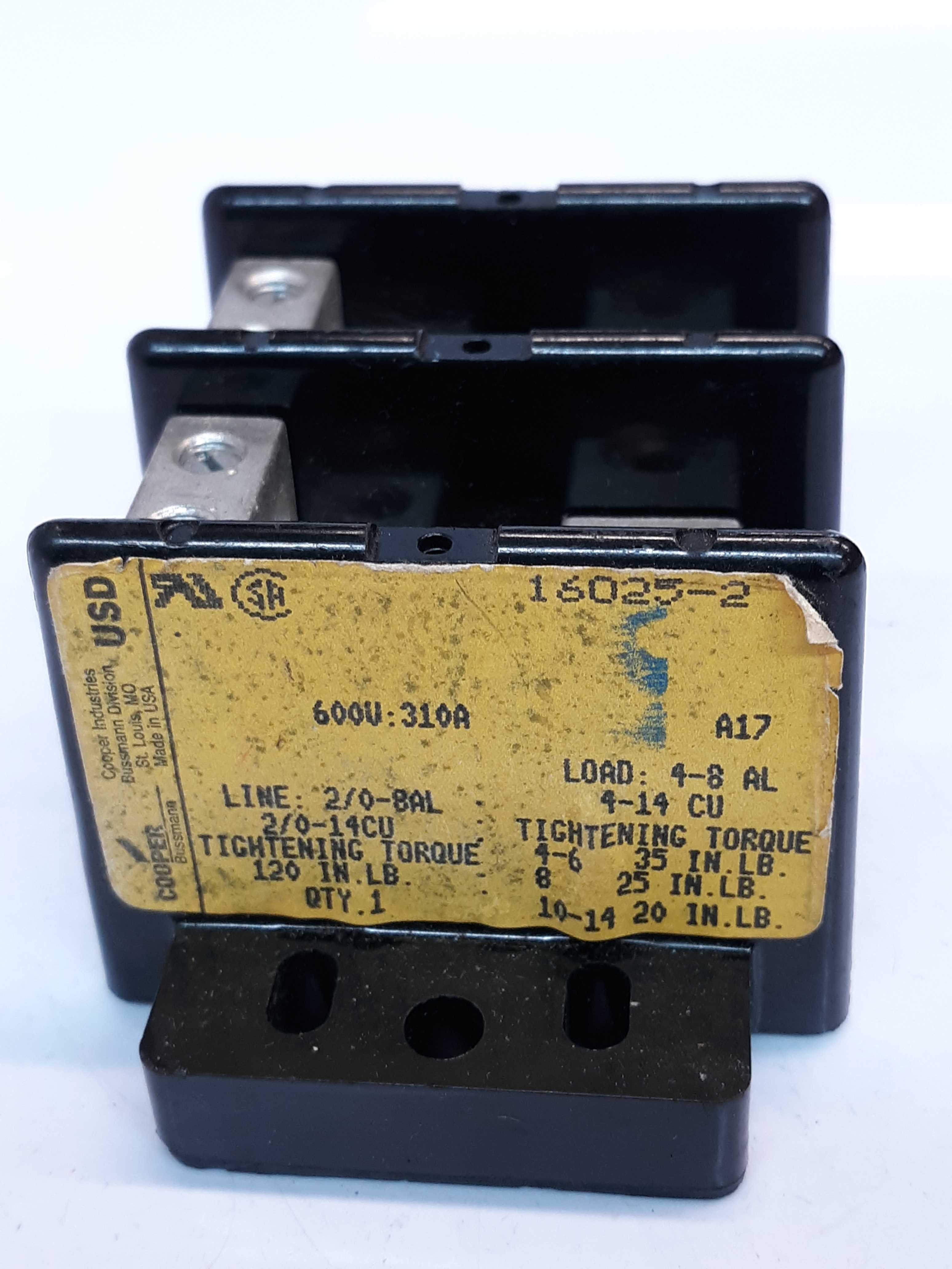 Cooper Bussmann 16025-2 Power Distribution Block