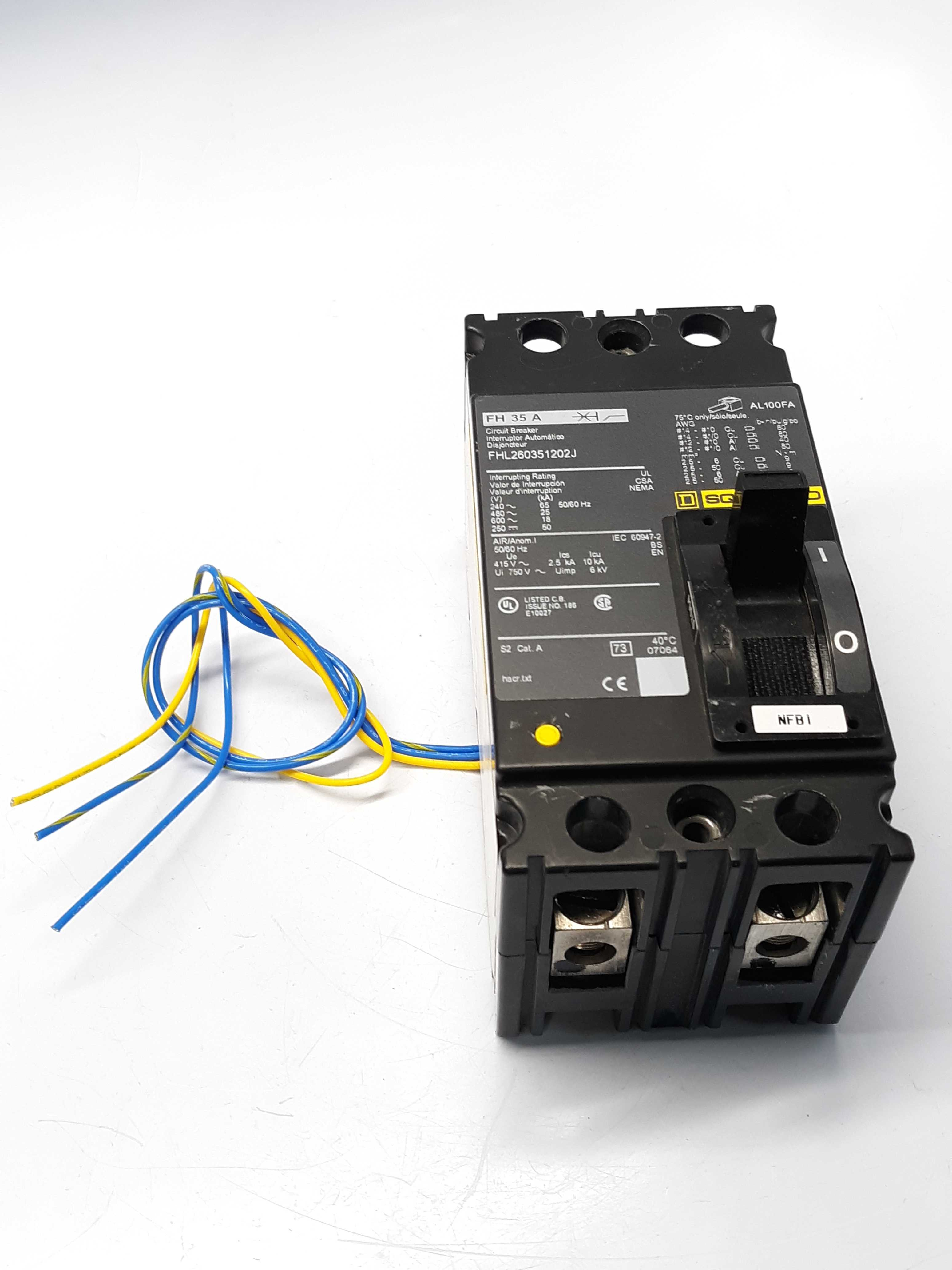Square D FHL260351202J  Circuit Breaker Auxiliary Switch
