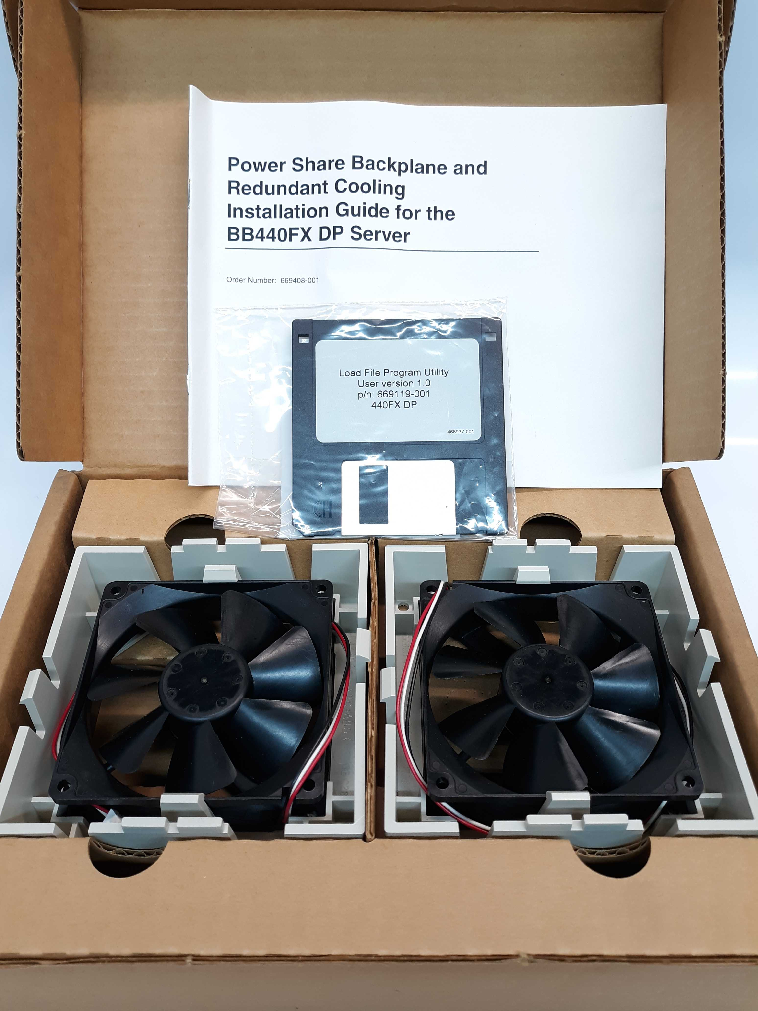 NMB 3610KL-04W-B56 Power Share Backplane and Redundant Cooling Fan 12V .43A