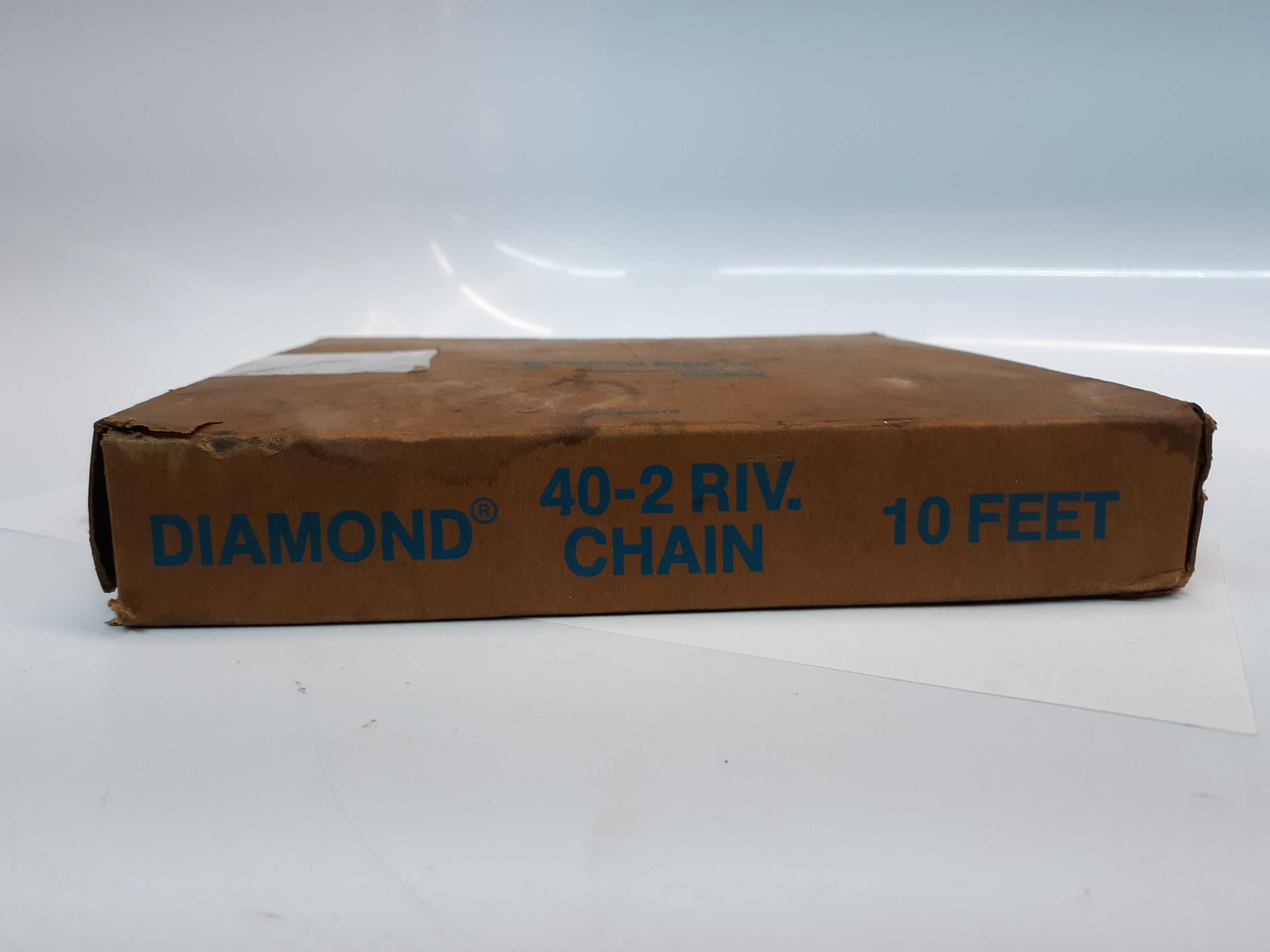 Diamond 40-2RIV Riv Roll Chain 10ft