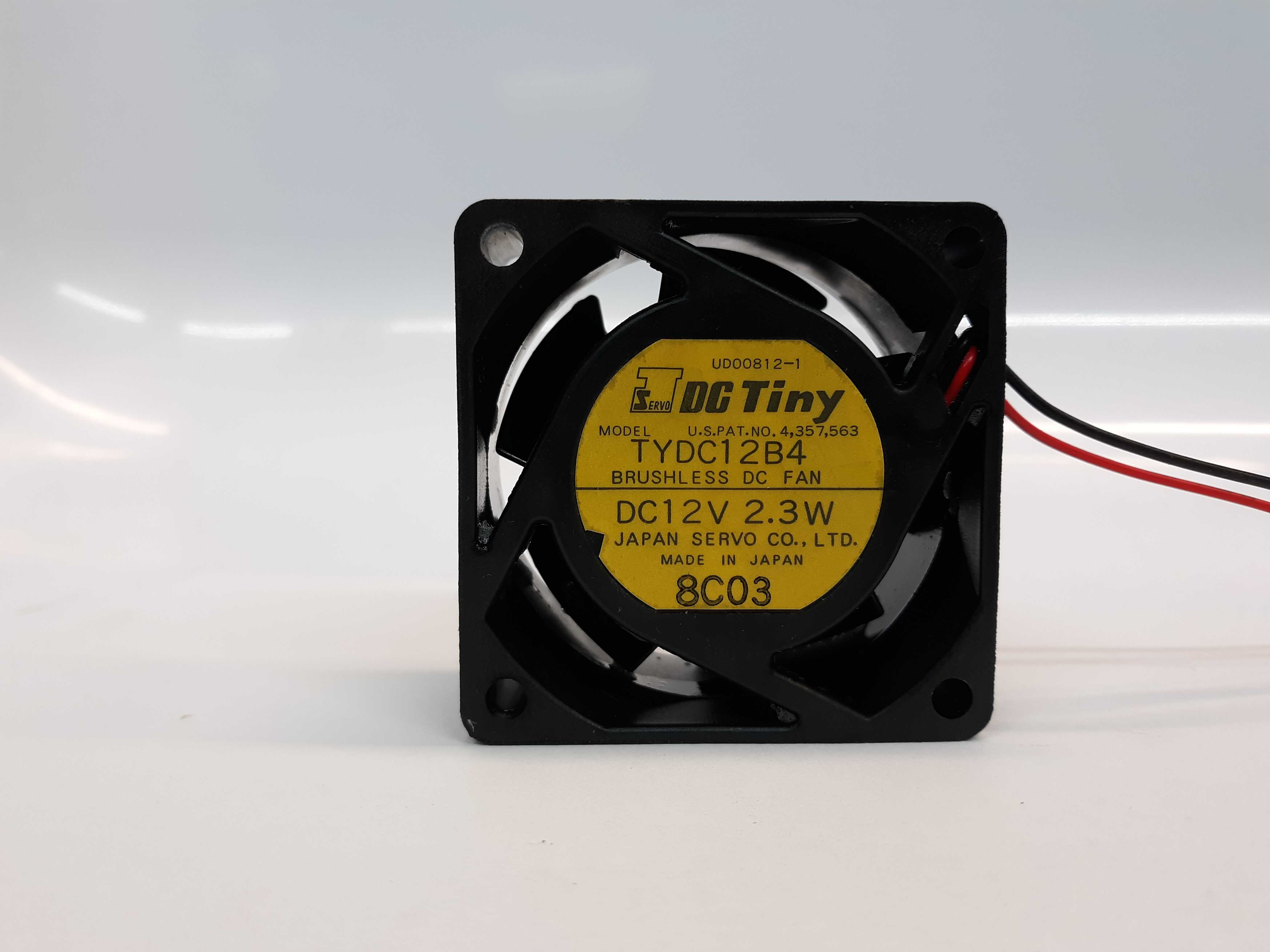 Servo DC Tiny TYDC12B4 Brushless DC Fan 12 VDC 2.3VW