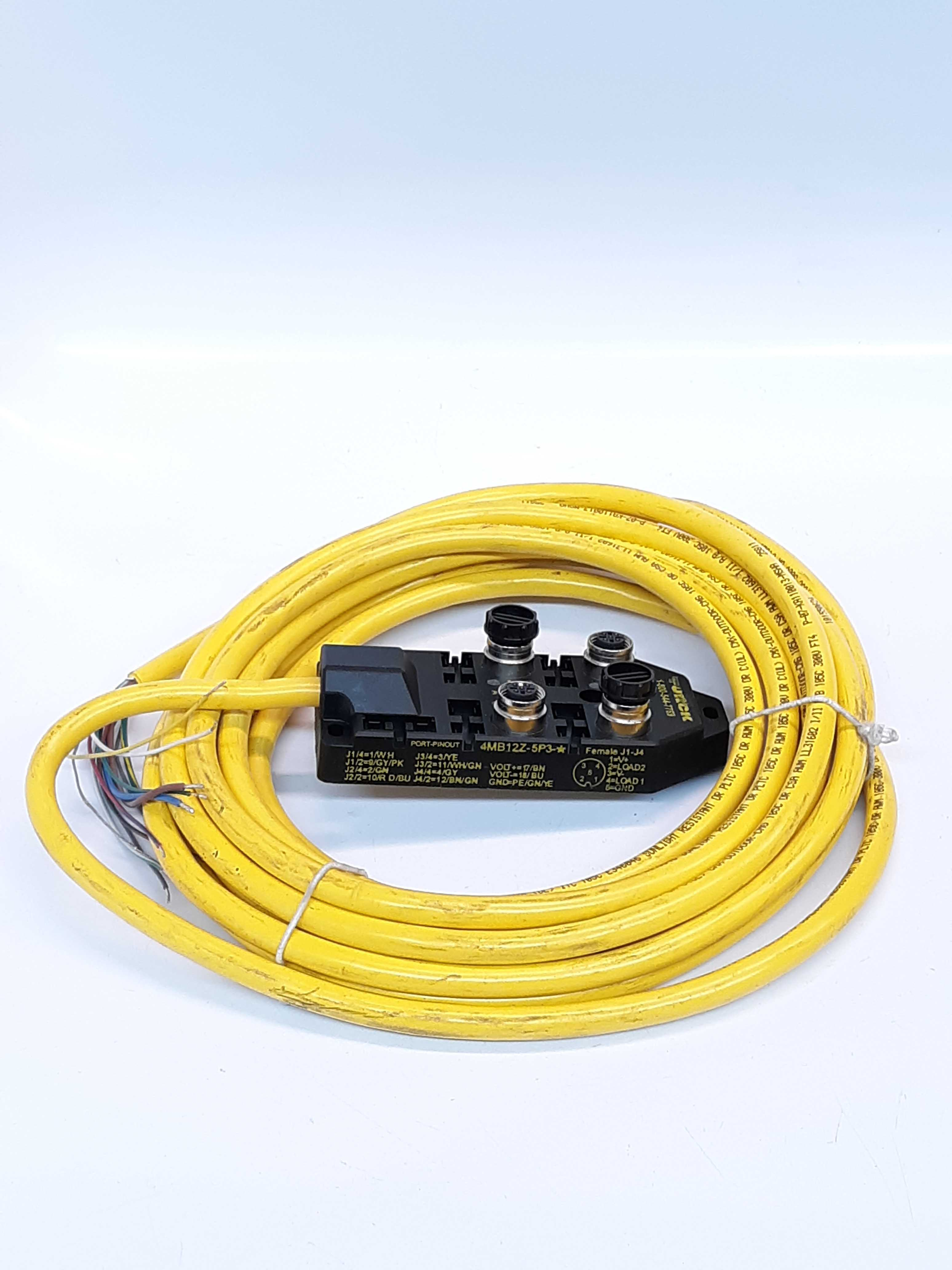 Turck 4MB12Z-5P3-5  Junction Box / Cable 4-Port Multi-Box Low Profile