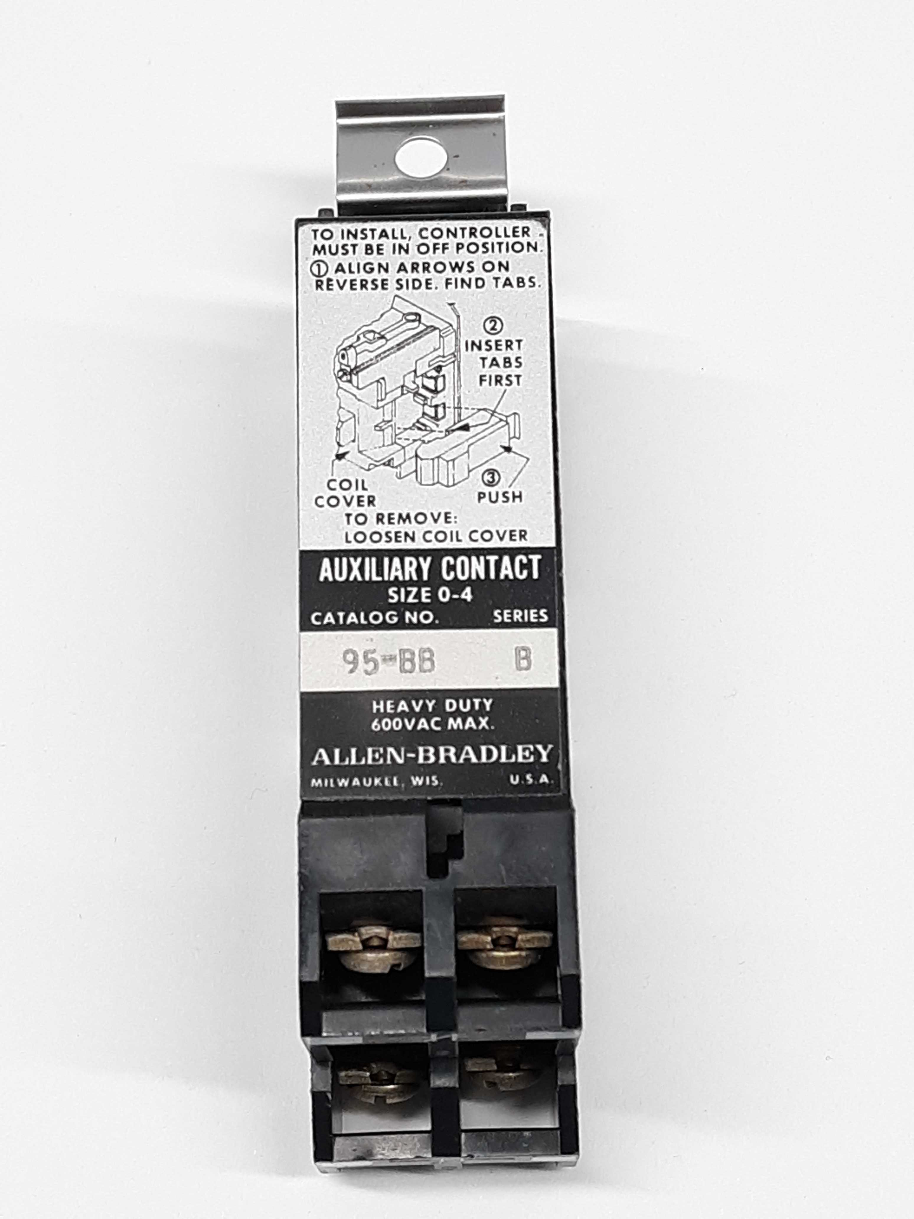 Allen-Bradley 95-BB Auxiliary Contact