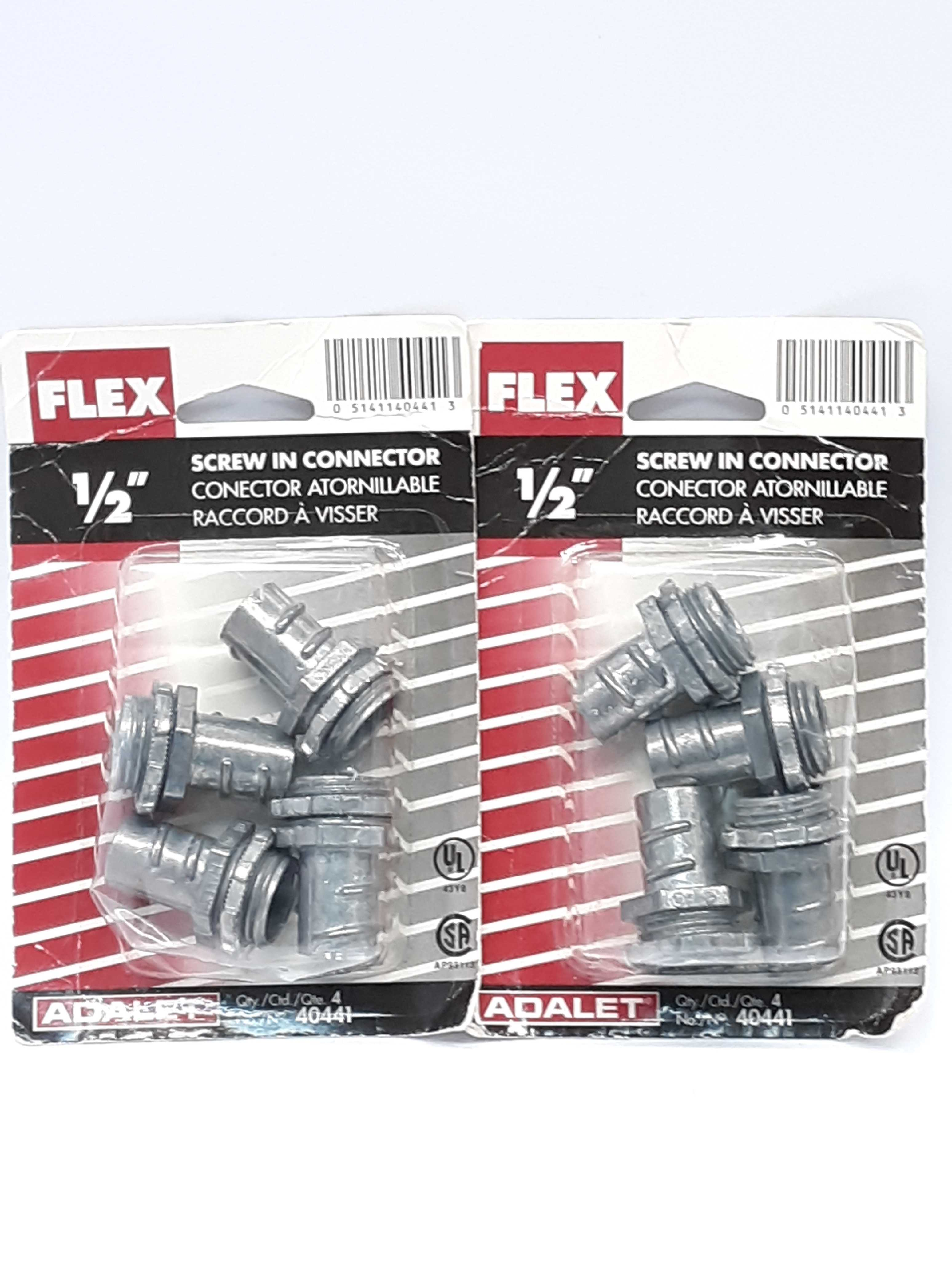 Flex 40441 Screw In Connector 1/2 Lot of 2