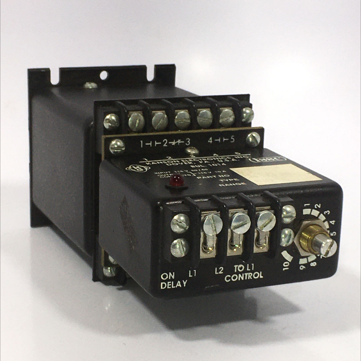 Industrial Solid State Controls 1014-1-G-1-B Contact Timer 115V 10A .06-10.0 sec