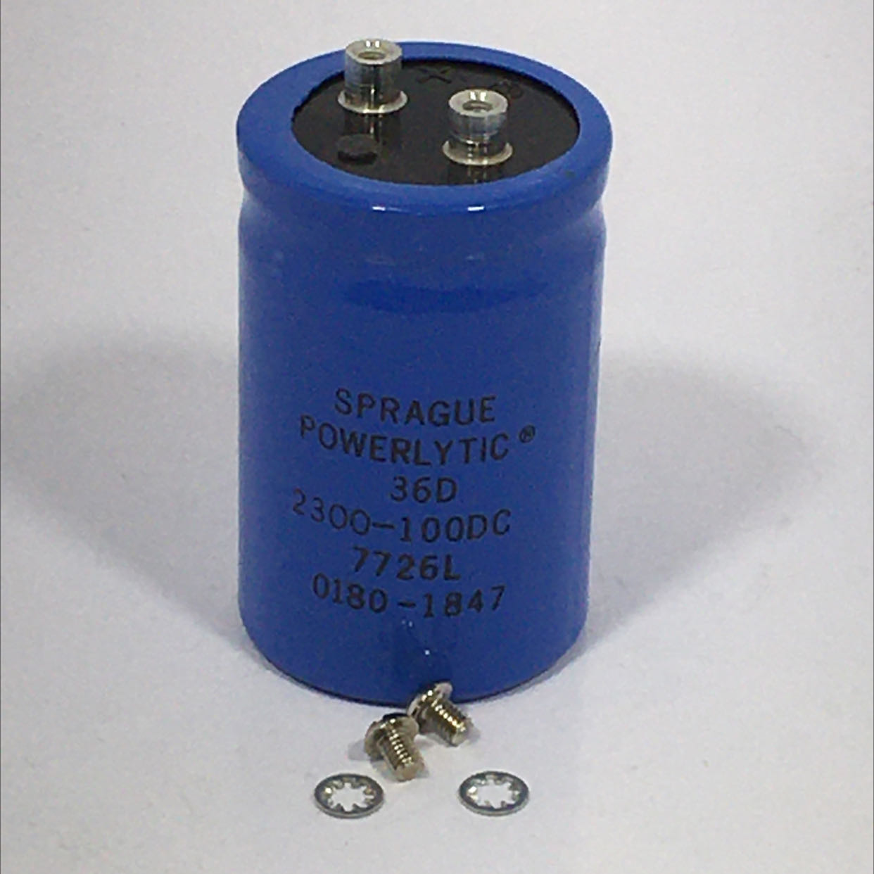 Sprague 36D Powerlytic Capacitor  2300-100DC 7726L