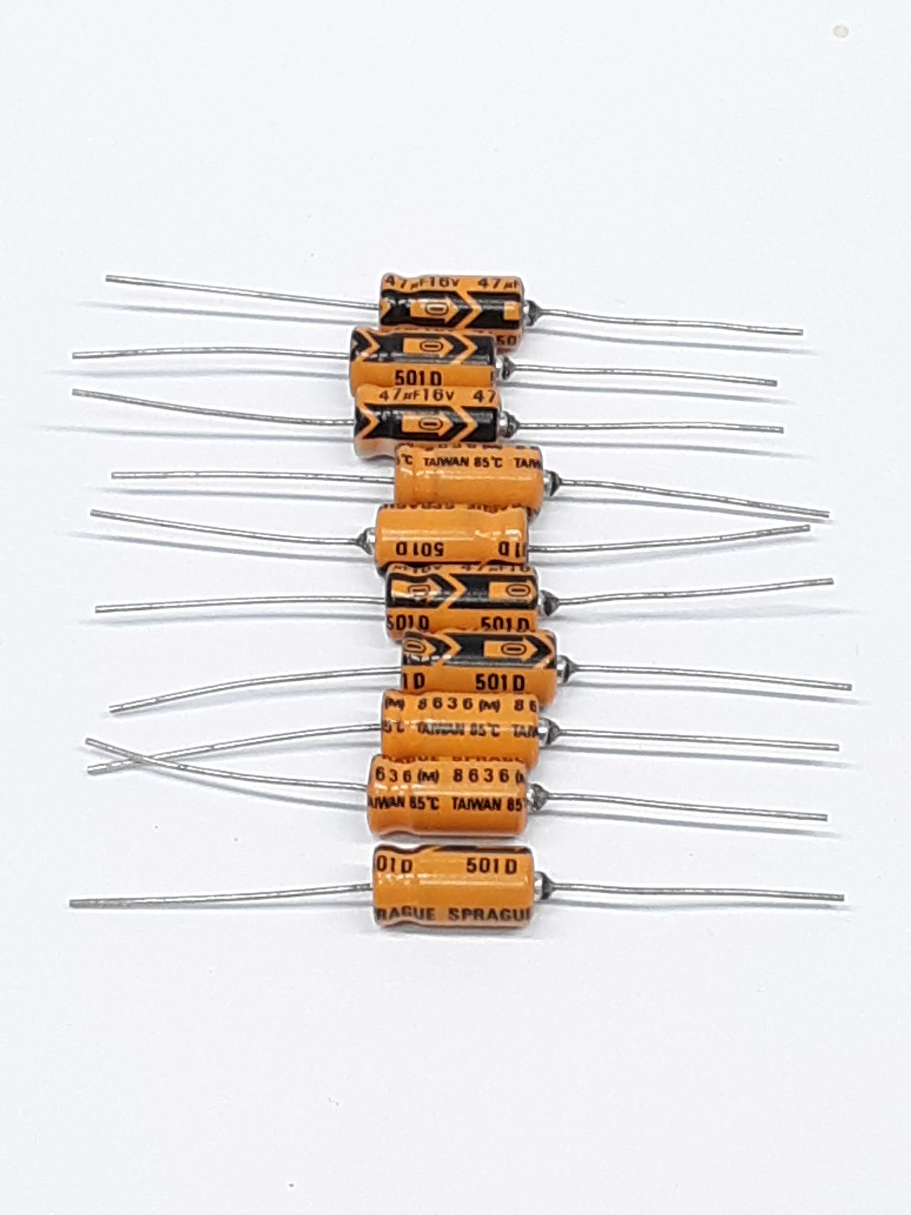 Sprague 501D Resistor  47uF16V Lot of 10