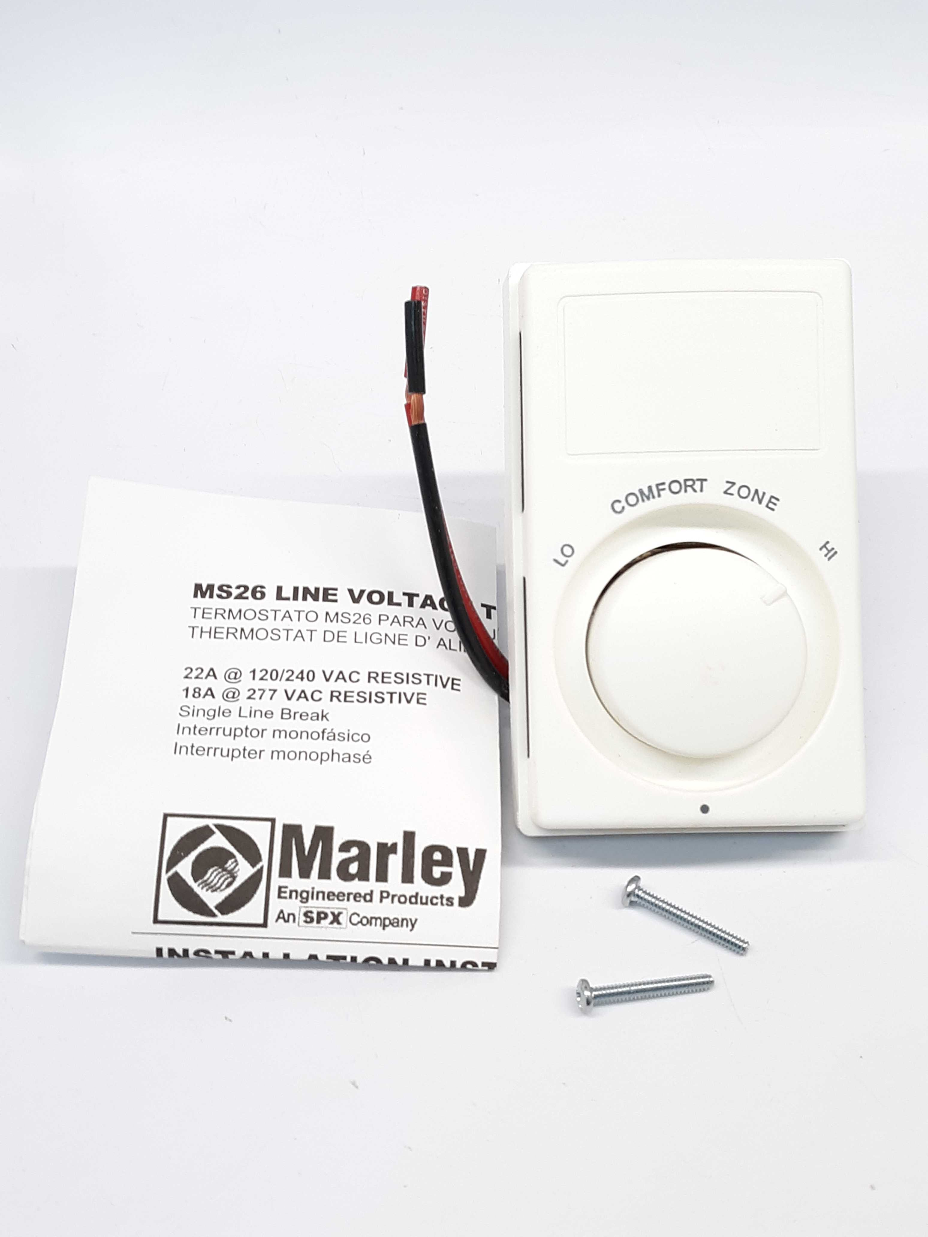 Marley MS26 Single Line Break Voltage Thermostat 22A 120/240vac
