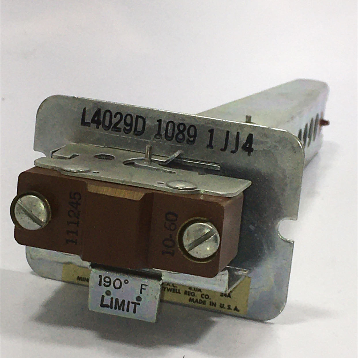 Honeywell L4029D-1089-1 Limit Control 2-Wire 7