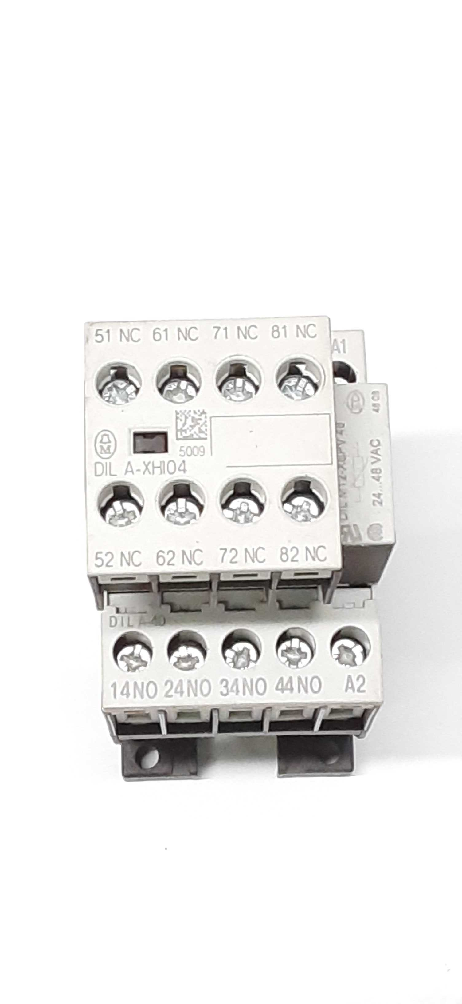 Moeller DIL A-XHI04 Auxiliary Contactor w/ Aux DILM12-XSPV 24...48vac