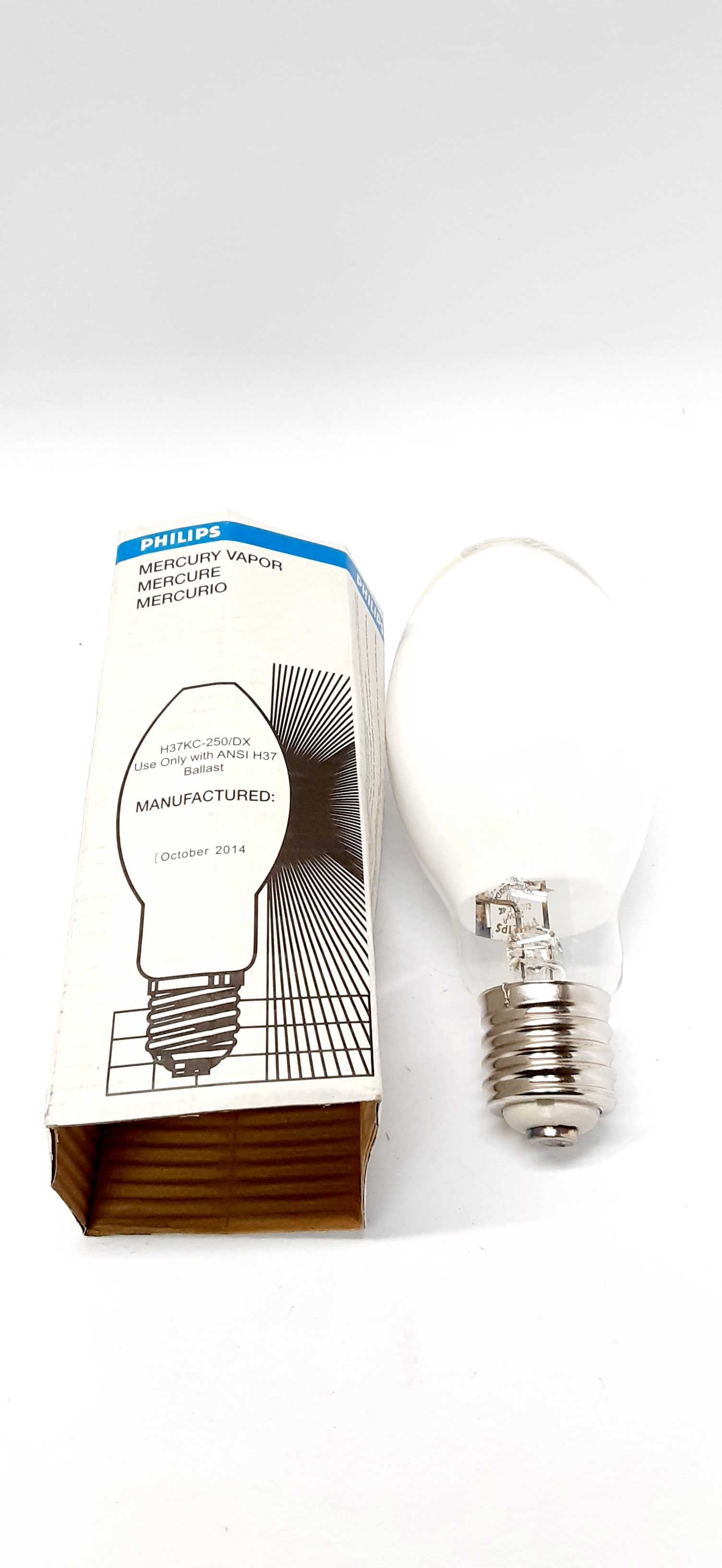Philips H37KC-250/DX Mercury Vapor Lamp 250W