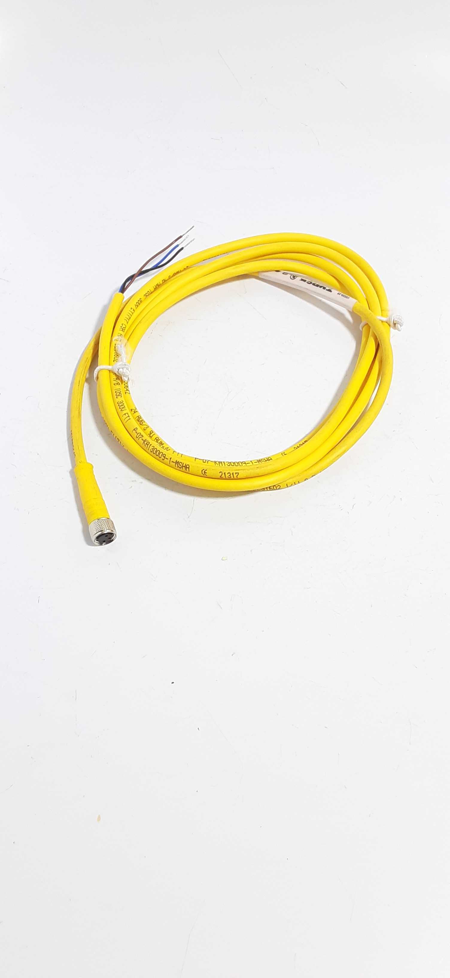 Turck PKG 3M-2 Female to Cut-end Yellow Cordset