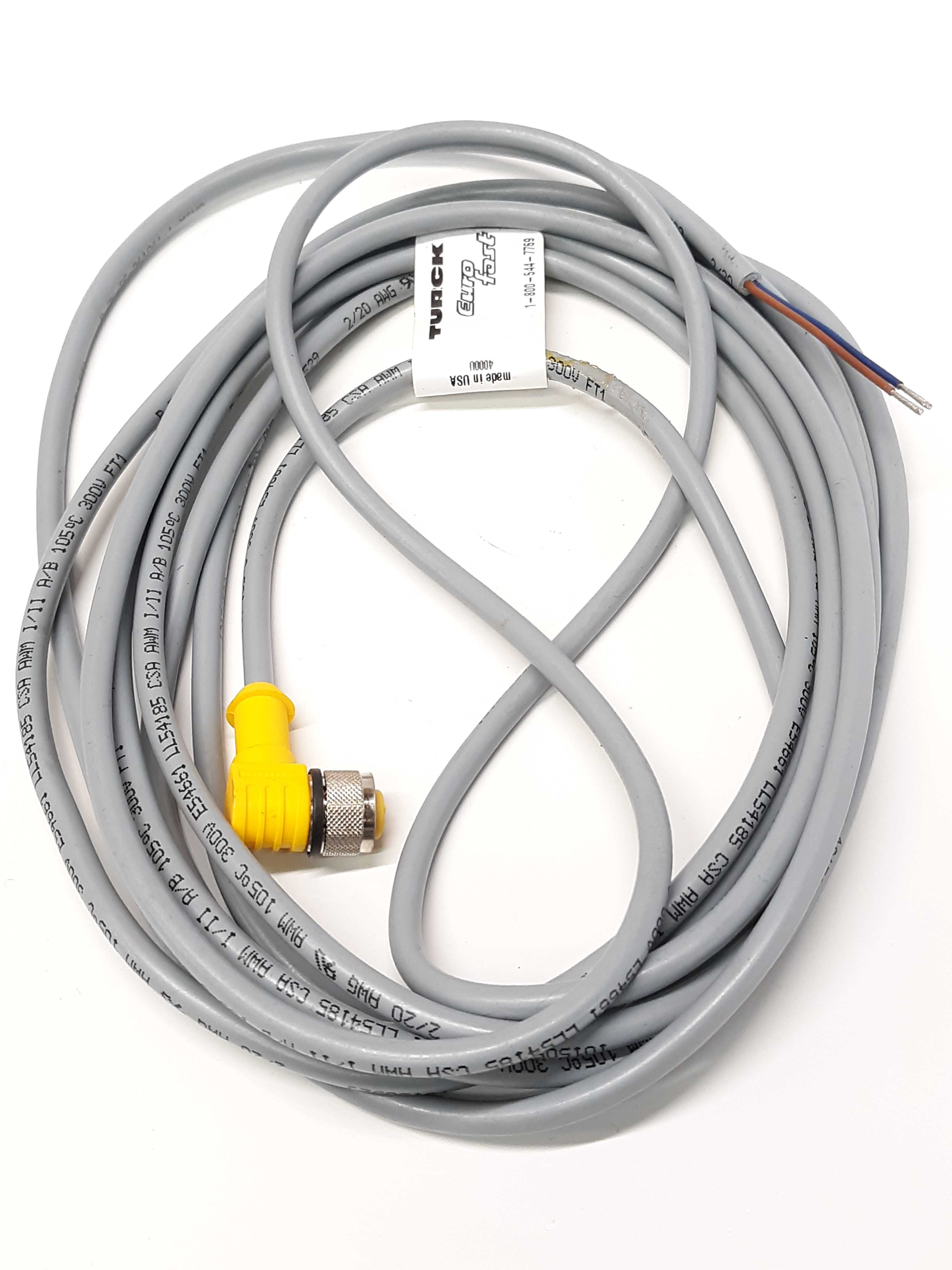 Turck WK 4.2T-4 Eurofast Molded Cable Cordset Female