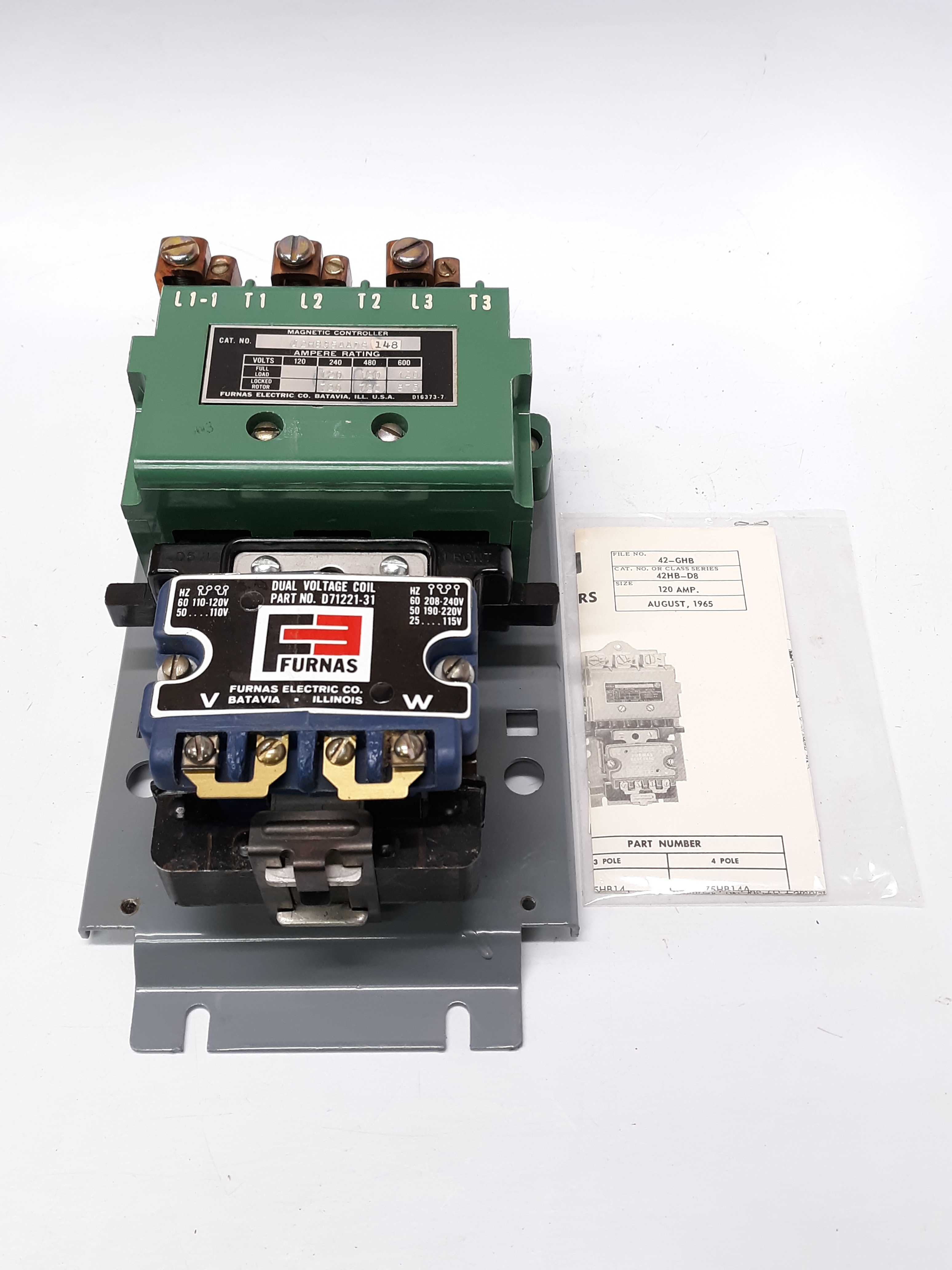 Furnas 42HB35AAD8 Magnetic Contactor Controller 120A Full Load
