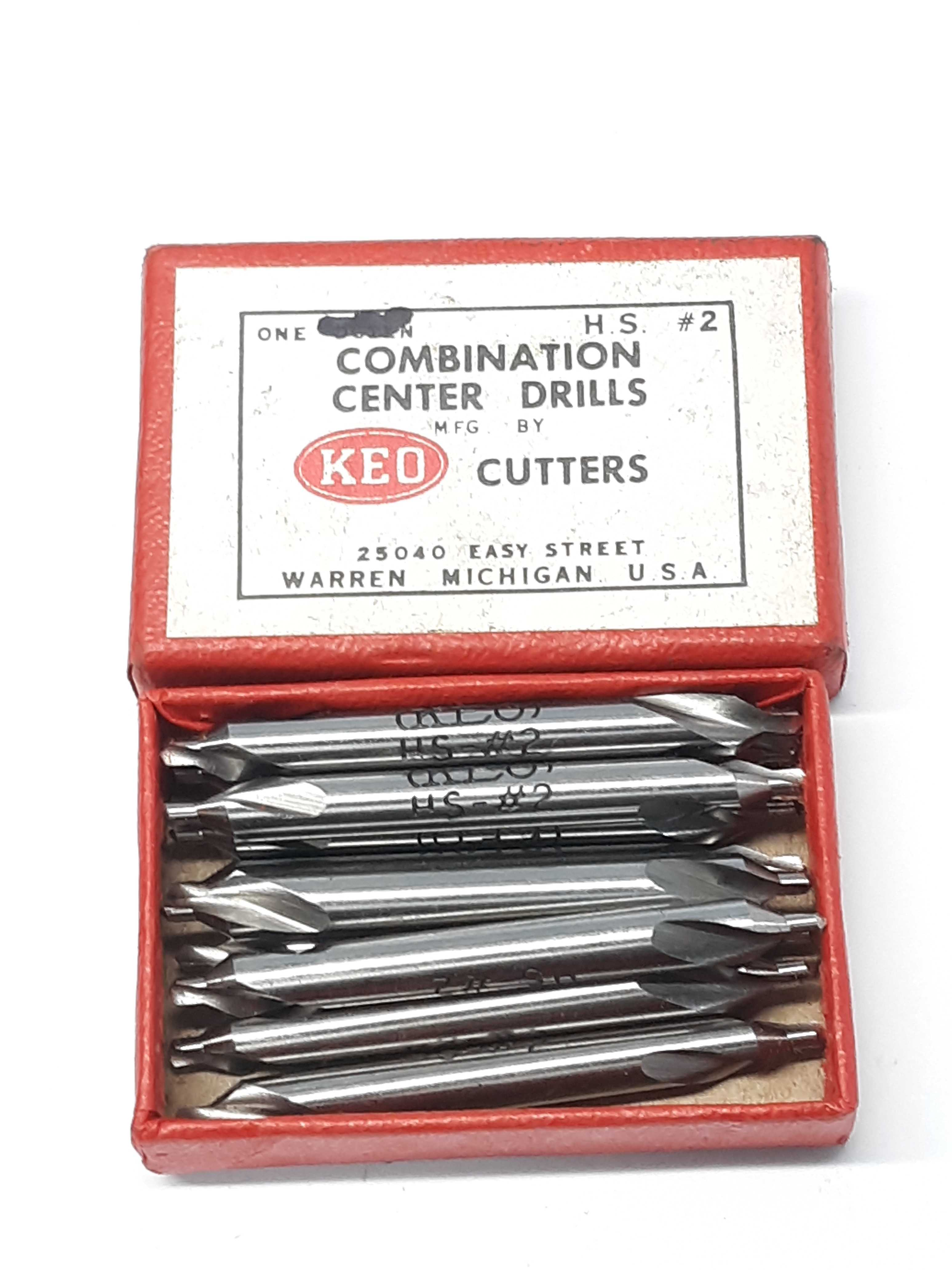 KEO HS-#2 Combination Center Drills Lot of 10