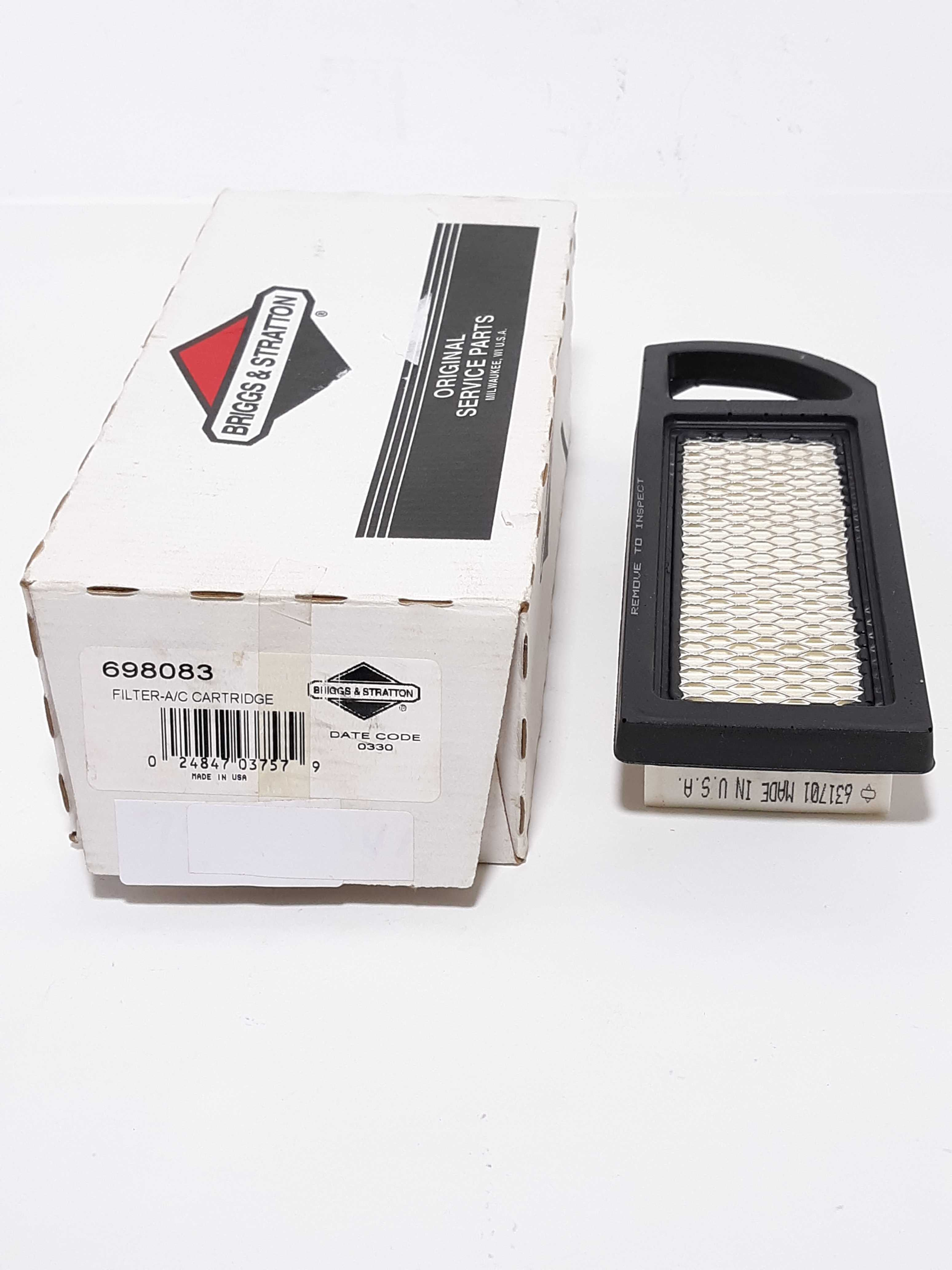 Briggs & Stratton 698083 Filter A/C Cartridge