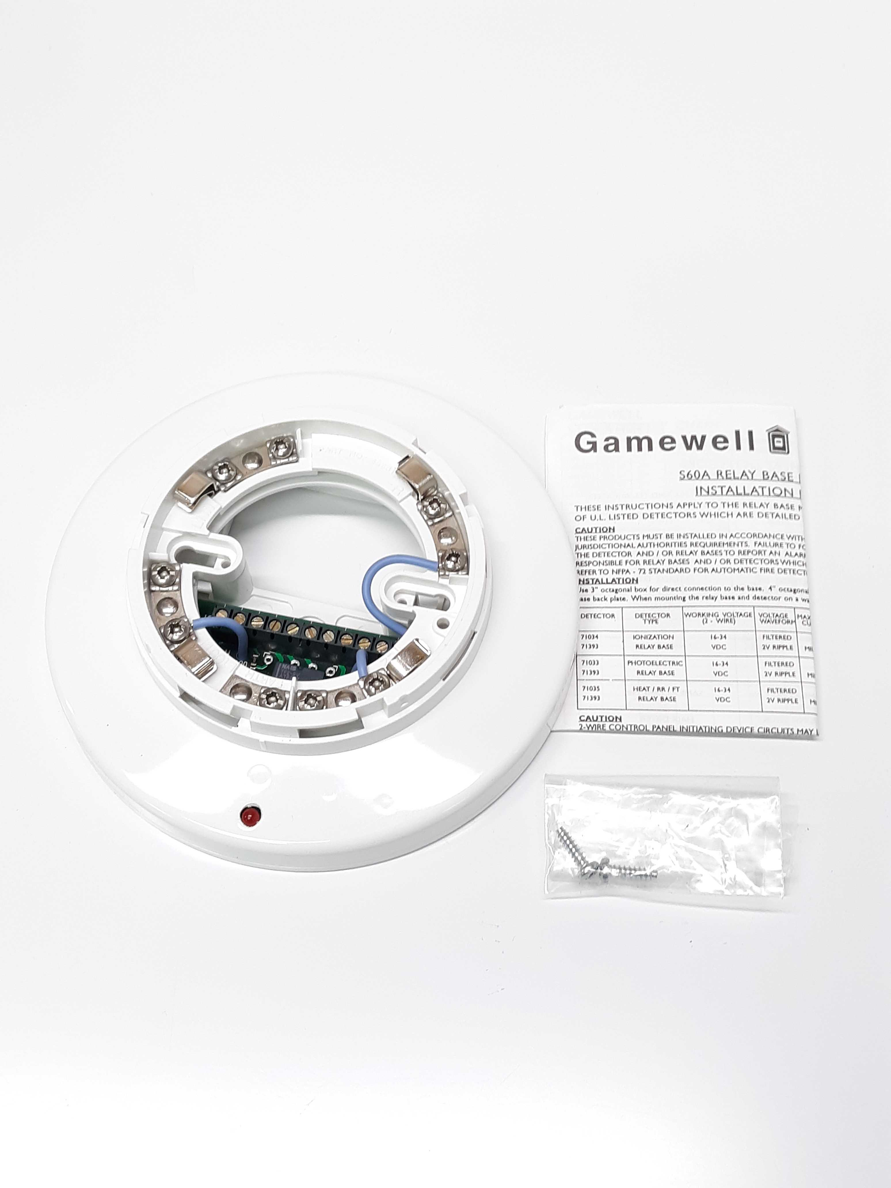 Gamewell 71393 Automatic Fire Detector Base For Open Area